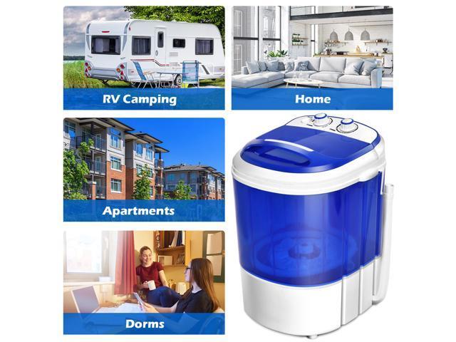 Small Mini Portable Compact Washer Washing Machine 7lbs Capacity Blue