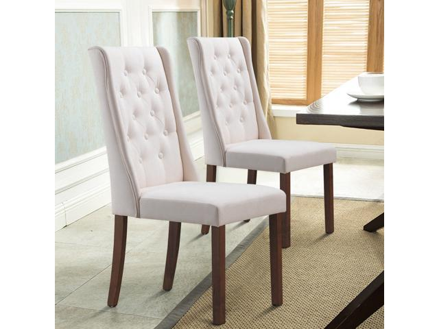 Set Of 2 Living Room Accent Chairs.Set Of 2 Fabric Dining Chairs Armless Tufted Accent Chair Living Room Furniture Newegg Com