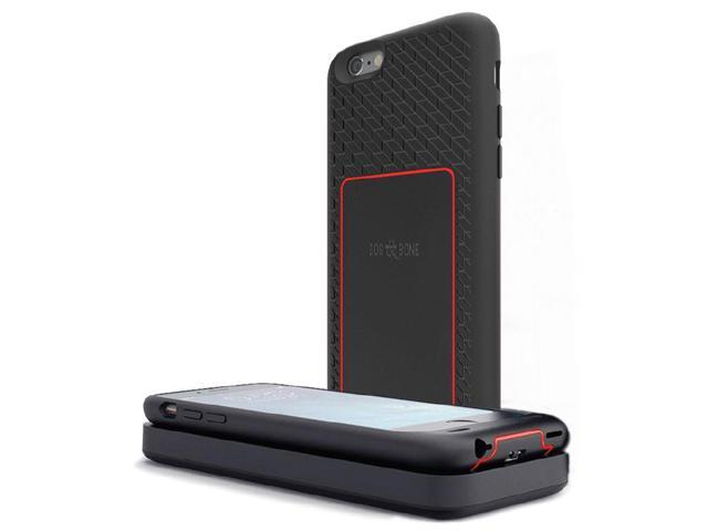 huge discount 774e5 9d930 Dog & Bone Backbone Starter Pack - Wireless Charging Case with Wireless  Charger Pad for iPhone 6 / 6S - Black Red - Newegg.com