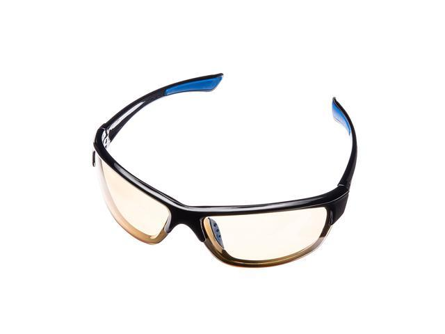 bf1a122de7 Lumin Vector Night Driving Glasses - Improve Road Safety with Outdoor Night  Vision - UVA and UVB Protection - Reduce Eye Strain   Headaches - Unisex  Sport ...