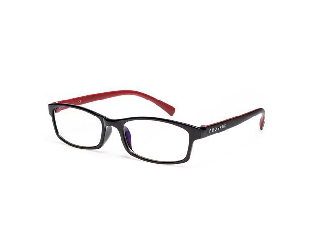 dfd67fb1c10 PROSPEK - Premium Computer Glasses - Professional - Blue Light and Glare  Blocking (Small +0.00) - Anti-Scratch -  Anti-Reflective - UV Light Blocking  (100% ...