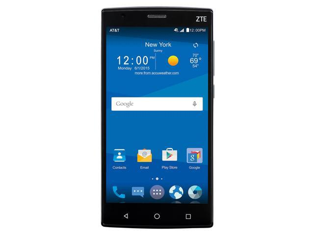 ZTE ZMAX 2 Z958 16GB AT&T Unlocked 4G LTE Android Phone w/ 8 MP Camera -  Black - Newegg com