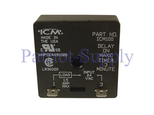 Icm Controls Icm100 Delay On Make Timer With 3 Minute Fixed Delay
