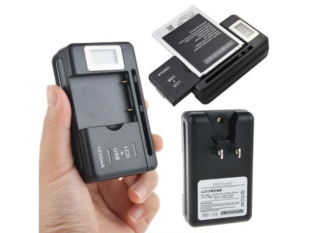 LCD Universal Battery Charger Power W// USB Port For Samsung SGH-i677 Focus Flash