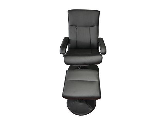 Mcombo Electric Armchair W Ottoman Pu Leather Tv Recliner Mage Chair Swivel Seat Black 7903