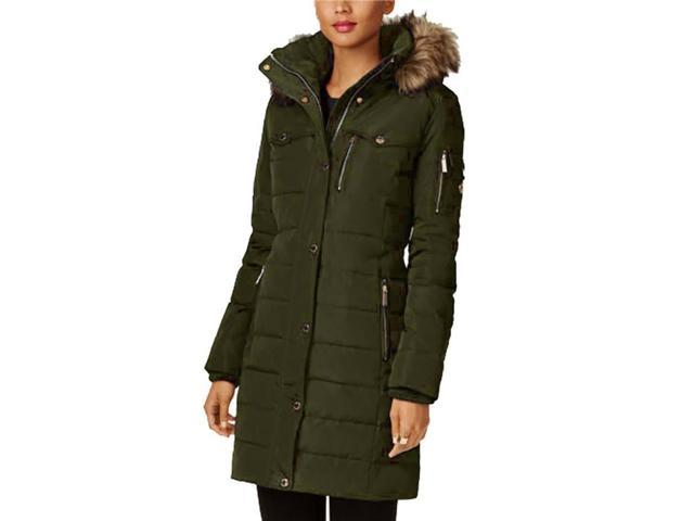 c363ae8b934 MICHAEL KORS Faux Fur Trim Down Puffer Coat - Newegg.com
