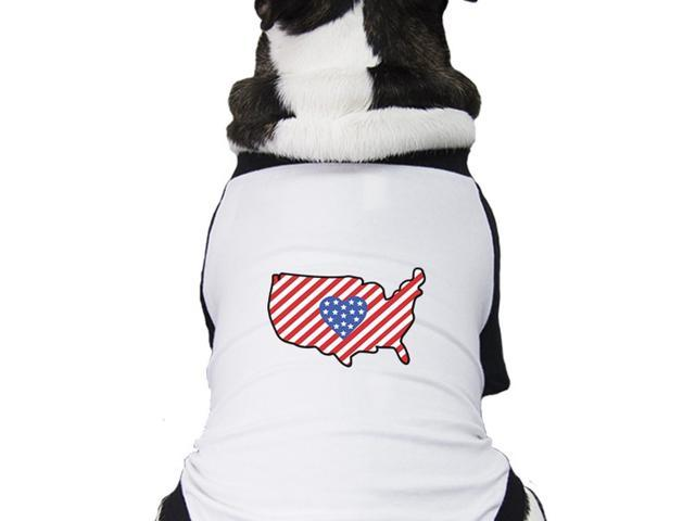 Cute Usa Map.Usa Map Small Pet Baseball Tee Cute Patriotic Gifts For Dog Owners