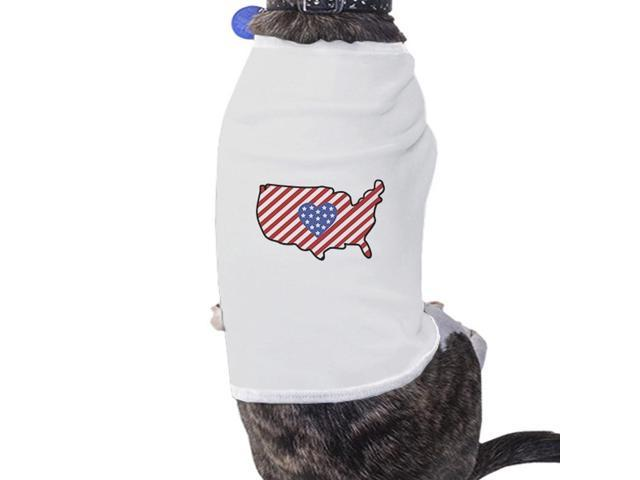 Cute Usa Map.American Flag Usa Map Cute 4th Of July Decorative Small Pet Shirt