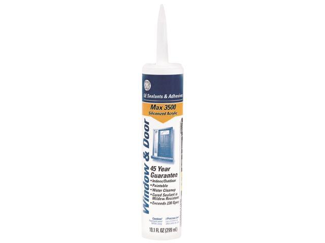 New GE Max 3500 Multi Purpose Siliconized Acrylic Caulk 10 1 oz Tube Gray - Awesome siliconized acrylic caulk Inspirational