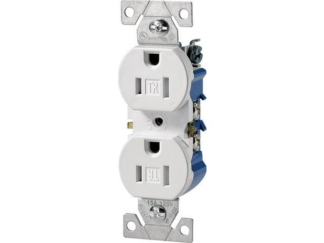 Receptacle Dpx 125V 15A 2P 4In COOPER WIRING Single ...