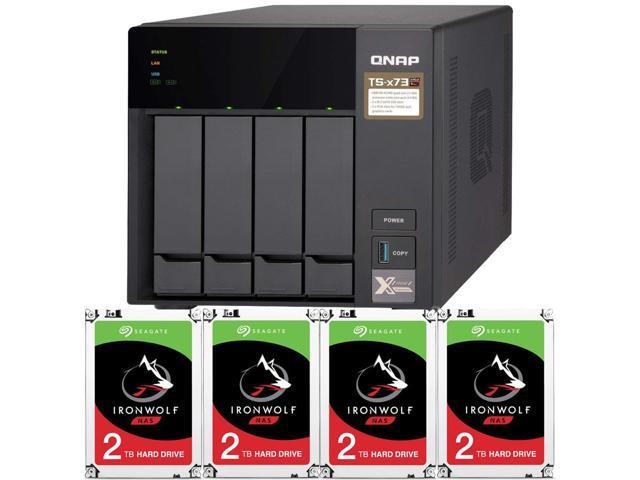 QNAP TS-473 4GB RAM 4-Bay Home / SMB NAS Preconfigured with 4TB (4 x 2TB)  Seagate Ironwolf NAS Drives - Newegg com