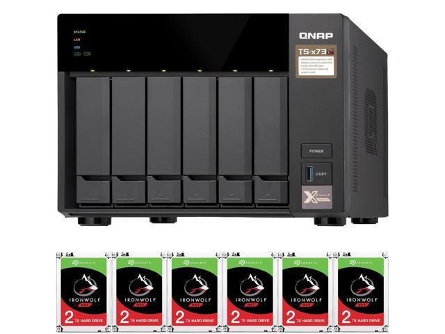 QNAP TS-673 4GB RAM 6-Bay High-Performance NAS Preconfigured with 12TB (6 x  2TB) Seagate Ironwolf NAS Drives - Newegg com