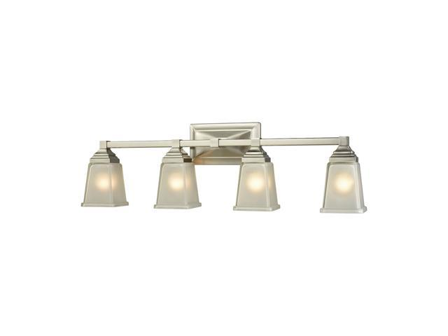 Thomas Sinclair 4 Light Bath In Brushed Nickel With