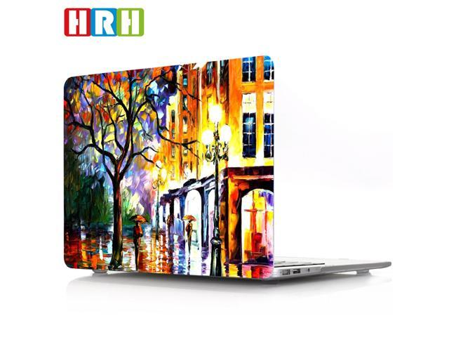 HRH Bright Street Painting Print Plastic Laptop Body Shell PC Protective  Hard Case for Macbook pro 15