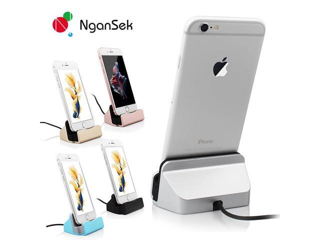d834947d47437a NganSek Dock For Apple iPhone 5 5S SE 6 7 6s Plus 7Plus Sync Data Charging