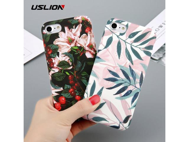 wholesale dealer 32bdf e2a4a USLION Case For iPhone 6 Flower Cherry Tree Hard PC Phone Cases Candy  Colors Leaves Print Cover Coque For iPhone 6 6s 7 8 Plus - Newegg.com