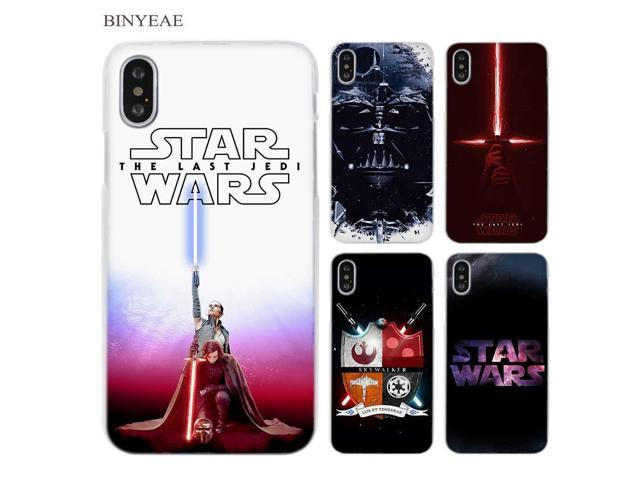f9cd4384b BINYEAE Star Wars Clear Cell Phone Case Cover for Apple iPhone X 6 6s 7 8
