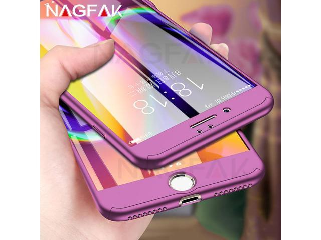 best sneakers 2389c d6101 NAGFAK 360 Degree Full Cover Case For iPhone 6 6s 7 Plus Cases wish  Tempered Glass For iphone 8 8 Plus Phone Case Capa - Newegg.com
