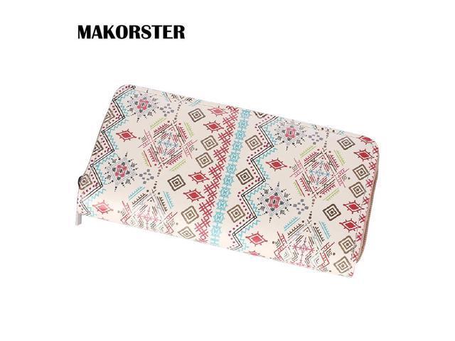 d42589510924 MAKORSTER Long Wallet Female Purse Bag PU Leather Bag Womens wallets and  purses Women's Cute Design Wallets MK148 - Newegg.com