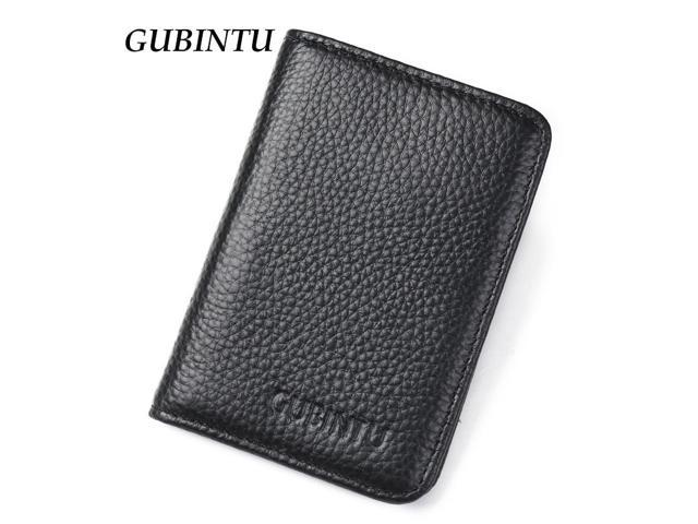 35d12f1a0253 Genuine Leather Credi Card Wallet RFID Front Pocket Wallet Mens Women ID  Card Pack Bank Card Holder Business Small Purse - Newegg.com