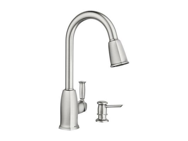 Moen 87022srs Wellsley One Handle Kitchen Faucet Spray Newegg Ca