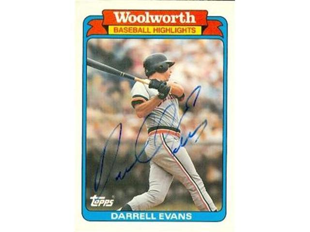 Autograph Warehouse 88869 Darrell Evans Autographed Baseball Card Detroit Tigers 1988 Topps Wolworth No 3 Neweggcom