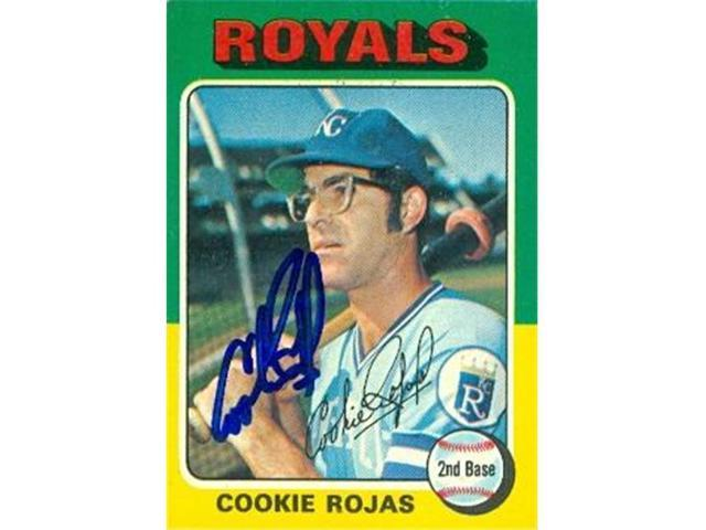 Autograph Warehouse 97671 Cookie Rojas Autographed Baseball Card Kansas City Royals 1975 Topps No 169 Neweggcom