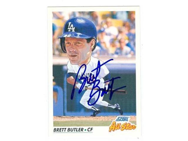 Brett Butler Autographed Baseball Card Los Angeles Dodgers 1992 Score No778 Neweggcom