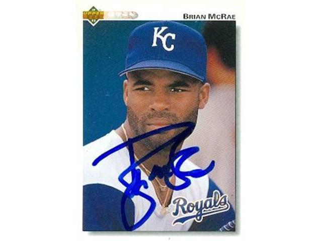 Autograph Warehouse 97753 Brian Mcrae Autographed Baseball Card Kansas City Royals 1992 Upper Deck No 157 Neweggca