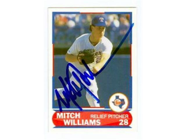 Autograph Warehouse 69237 Mitch Williams Autographed Baseball Card Texas Rangers 1989 Score Young Superstars No 27 Neweggcom