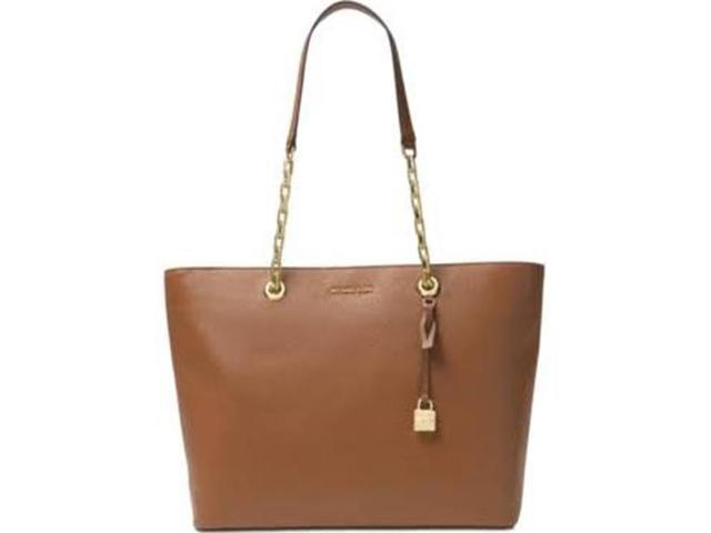 bf84232314 Michael Kors Mercer Medium Chain-link Leather Tote - Brown - 30H6GM9T9L-230