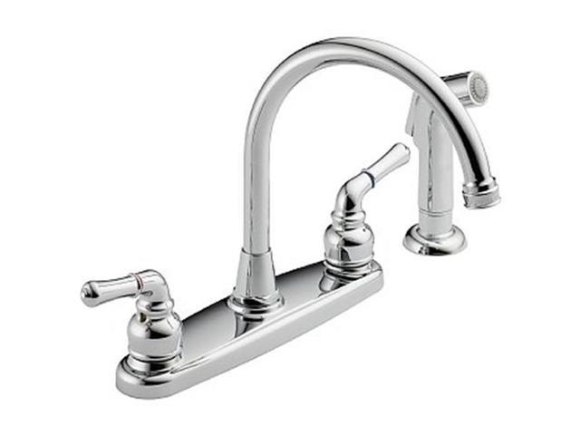 Westbrass WAS01-20 4 - Hole Lever Handle Kitchen Faucet - Stainless Steel -  Newegg.com