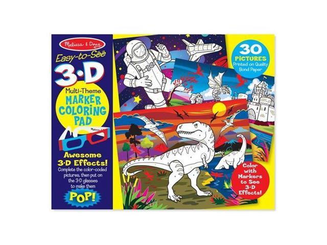 Melissa & Doug 9964 3D Coloring Book - Boy - Newegg.com