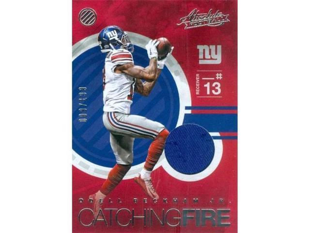 reputable site 4da6c 4d9d0 Autograph Warehouse 343238 Odell Beckham Jr. Player Worn Jersey Patch  Football Card - New York Giants 2016 Panini Absolute Catching Fire No. 13  LE 9 & ...