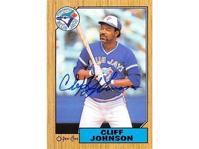 Autograph Warehouse 302273 Cliff Johnson Autographed Baseball Card Toronto Blue Jays 1987 O Pee Chee No 118 Neweggcom