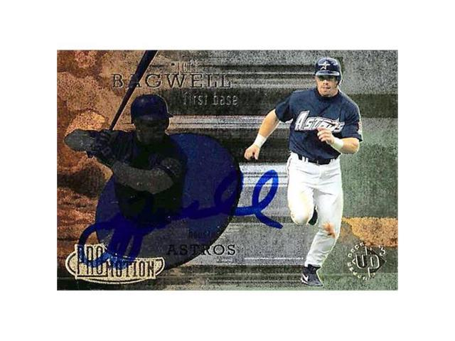 Autograph Warehouse 344708 Jeff Bagwell Autographed Baseball Card Houston Astros Sc 1997 Upper Deck Promotion No 38 Neweggcom