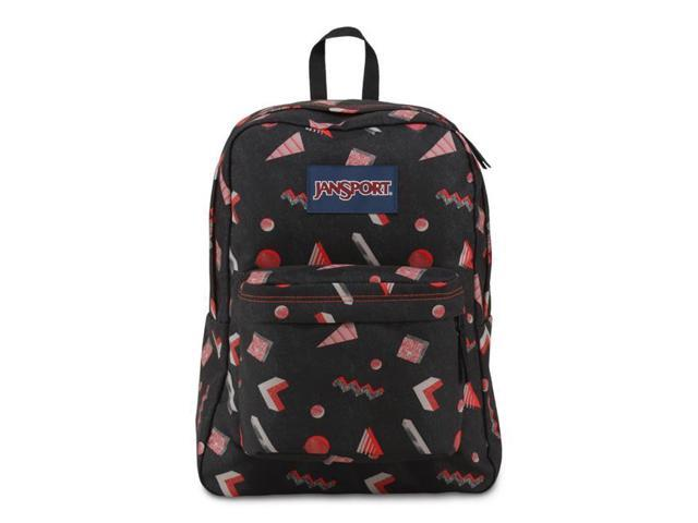 low cost b74de 996aa JanSport Superbreak School Backpack - High Risk Red Fresh Prince - Silver