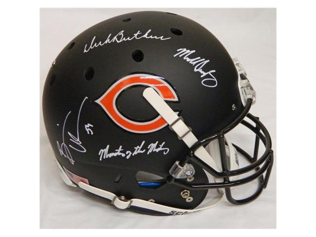 bea55dd9aba Schwartz Sports Memorabilia BEAREP305 Dick Butkus & Mike Singletary & Brian  Urlacher Signed Bears Custom Black