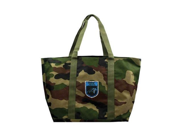 premium selection 2e760 b4eee Little Earth 351010-PANT-CREST NFL Crest Camo Tote, Carolina Panthers -  Patch - Newegg.com