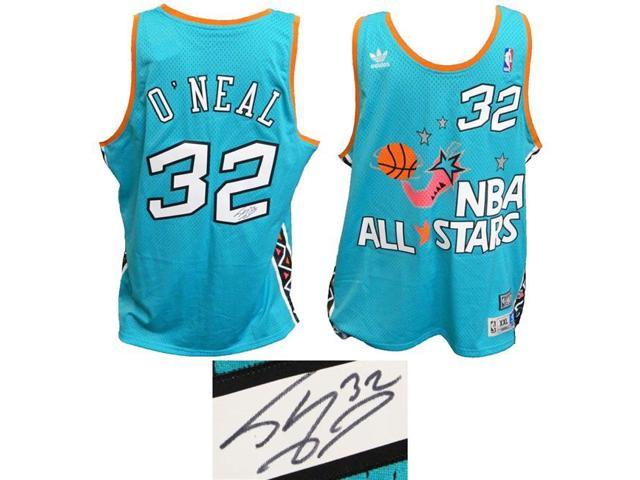 190425f601b Schwartz Sports Memorabilia ONEJRY206 Shaquille ONeal Signed 1996 All Star  Game Teal Official Adidas Throwback Swingman