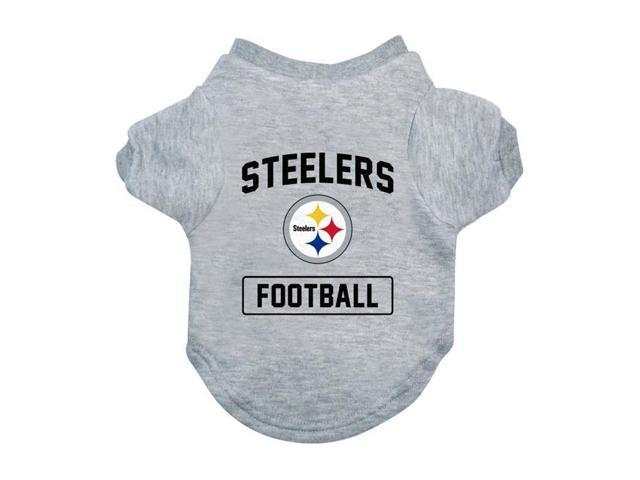 f2a140e3e13 Little Earth 320150-STLR-M NFL Pet Tee Shirt Type, Pittsburgh Steelers -  Medium