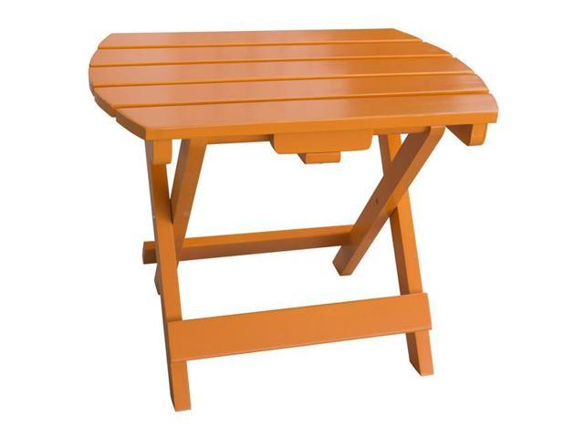 AmeriHome ADTTG Solid Wood Adirondack Folding Side Table, Tangerine