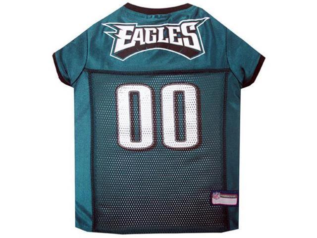 low priced 05244 04cb0 Pets First 849790030480 Philadelphia Eagles Dog Jersey - Black Trim - Extra  Small - Newegg.com