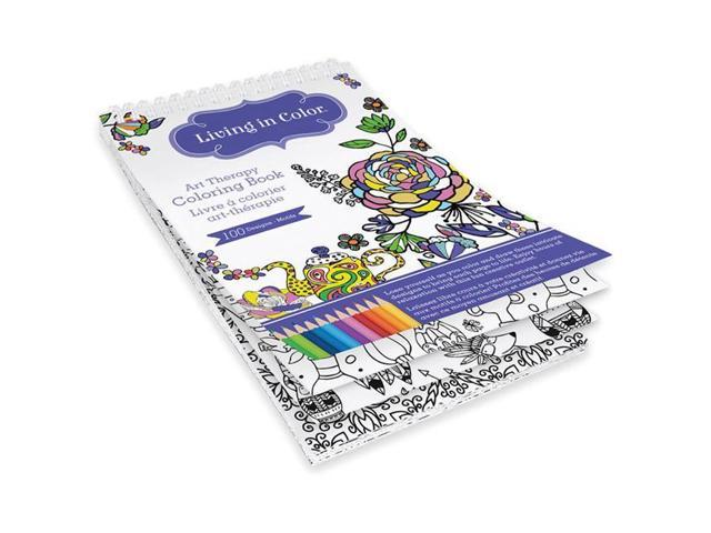 Multicraft Imports LIC600 B Living In Color Art Therapy Coloring Book    Azteca