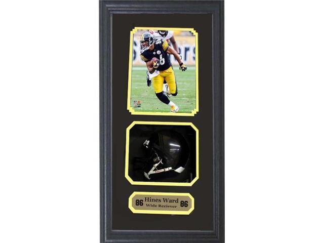 outlet store 12cee e907e Encore Select 621-44 Pittsburgh Steelers Hines Ward Autographed Photo along  with a Mini-Helmet Shadow Box - Newegg.com