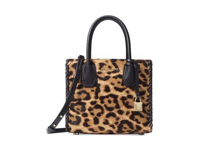 2dee6682c533 Michael Kors 30F7GM9M2H-226 Mercer Leopard Calf Hair Crossbody in  Butterscotch