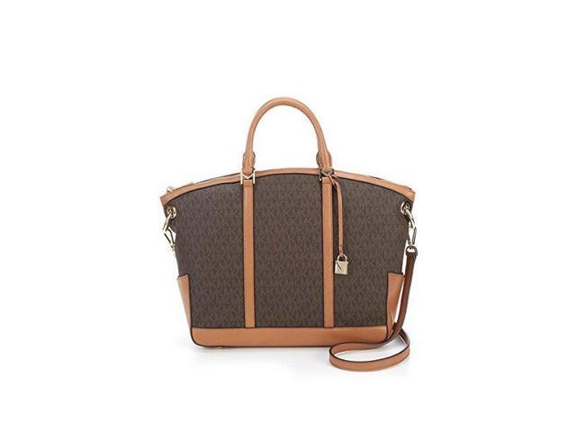 ec5fa5e47c19 Michael Kors Beckett Large Logo Satchel - Brown - 30T7GBUS3B-200 ...