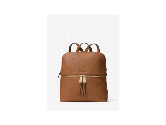 0bb5d1d88c7c Michael Kors 30H6GEZB2L-532 Rhea Medium Slim Leather Backpack - Acorn