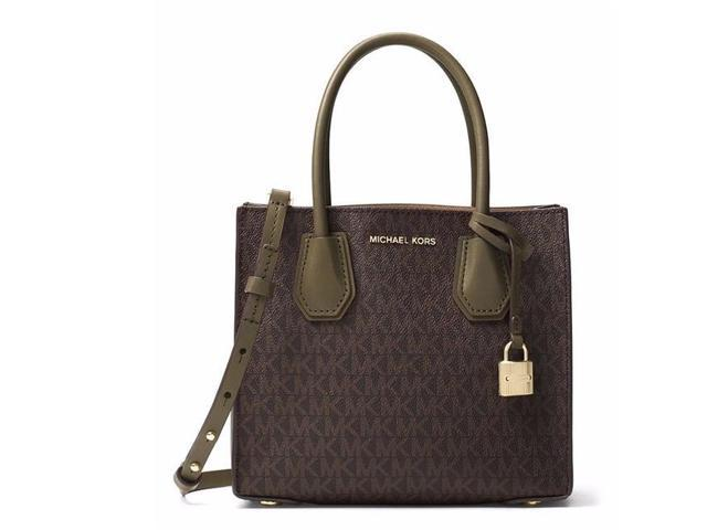 7469dcc4e3a3 Michael Kors Mercer Logo Crossbody - Brown Olive - 30T7GM9M8V ...