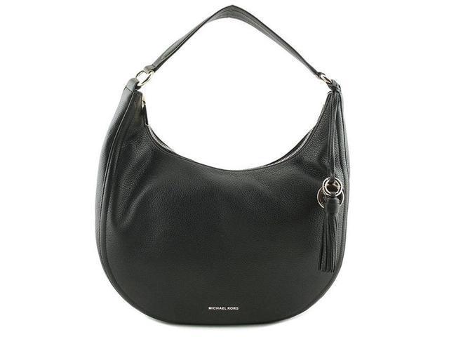 f8515c35b3eb Michael Kors Lydia Logo Shoulder Bag - Black - 30F7SL0L3B-001 ...